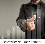 businessman with financial... | Shutterstock . vector #1095878000