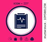 electrocardiogram symbol icon   Shutterstock .eps vector #1095881258