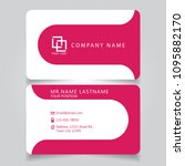 modern pink name card and... | Shutterstock .eps vector #1095882170