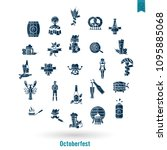 oktoberfest beer festival. flat ... | Shutterstock .eps vector #1095885068