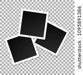 set of square vector photo... | Shutterstock .eps vector #1095891386