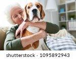 portrait of elegant senior... | Shutterstock . vector #1095892943