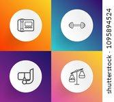 modern  simple vector icon set...   Shutterstock .eps vector #1095894524