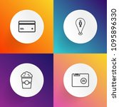 modern  simple vector icon set...   Shutterstock .eps vector #1095896330