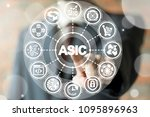asic blockchain cryptocurrency... | Shutterstock . vector #1095896963