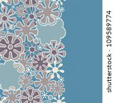 seamless abstract lace floral... | Shutterstock .eps vector #109589774