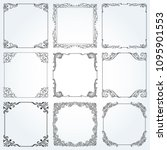 decorative frames and borders... | Shutterstock .eps vector #1095901553