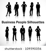 business people silhouettes | Shutterstock .eps vector #109590356
