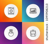 modern  simple vector icon set... | Shutterstock .eps vector #1095908213