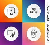 modern  simple vector icon set...   Shutterstock .eps vector #1095909998
