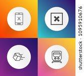 modern  simple vector icon set... | Shutterstock .eps vector #1095910676
