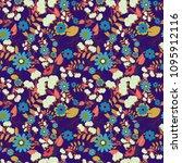 floral seamless texture.... | Shutterstock . vector #1095912116