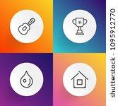 modern  simple vector icon set... | Shutterstock .eps vector #1095912770