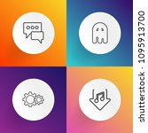 modern  simple vector icon set... | Shutterstock .eps vector #1095913700
