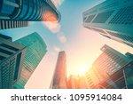 city modern skyscraper on a... | Shutterstock . vector #1095914084