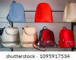 women's colorful handbags are... | Shutterstock . vector #1095917534