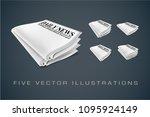 newspapers. illustrations...   Shutterstock .eps vector #1095924149