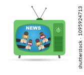 tv news anchorman broadcast... | Shutterstock .eps vector #1095924713