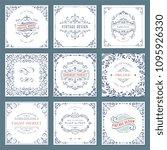 ornate frames design and scroll ...   Shutterstock .eps vector #1095926330