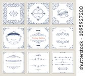 ornate frames design and scroll ... | Shutterstock .eps vector #1095927200