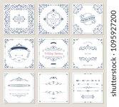 ornate frames design and scroll ... | Shutterstock .eps vector #1095927200