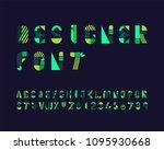 designer font set | Shutterstock .eps vector #1095930668