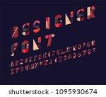 designer font set | Shutterstock .eps vector #1095930674