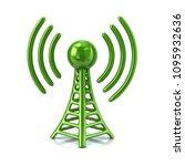 3d illustration green of... | Shutterstock . vector #1095932636