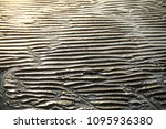 sand ripples and the sea  waves ... | Shutterstock . vector #1095936380