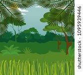 rainforest jungle natural scene | Shutterstock .eps vector #1095939446