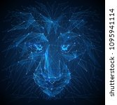 abstract vector image of lion.... | Shutterstock .eps vector #1095941114