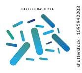 blue rod shaped bacilli... | Shutterstock .eps vector #1095942203