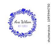vector scandinavian logotype ... | Shutterstock .eps vector #1095944750