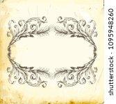 retro baroque decorations...   Shutterstock .eps vector #1095948260
