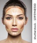 cosmetic makeup tonal...   Shutterstock . vector #1095948500