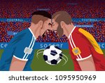 two angry football opponents... | Shutterstock .eps vector #1095950969