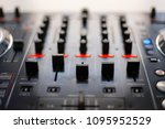 audio mixing console. reduction ... | Shutterstock . vector #1095952529