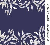 watercolor elegant leaves | Shutterstock . vector #1095957536