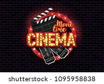 movie time poster. cinema... | Shutterstock .eps vector #1095958838