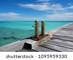 jetty mooring bollards close up ... | Shutterstock . vector #1095959330
