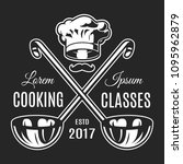 vintage cooking classes... | Shutterstock .eps vector #1095962879