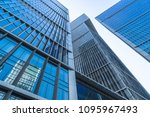 low angle view of skyscrapers... | Shutterstock . vector #1095967493