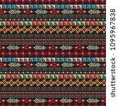 ethnic boho seamless pattern.... | Shutterstock .eps vector #1095967838