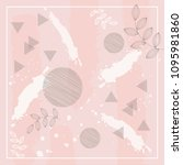 sweet pink pattern scarf | Shutterstock .eps vector #1095981860