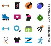 solid vector ixon set   barbell ... | Shutterstock .eps vector #1095982358