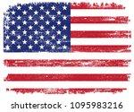 vintage flag of usa.vector... | Shutterstock .eps vector #1095983216