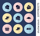 set of 9 pastry filled icons... | Shutterstock .eps vector #1095983270