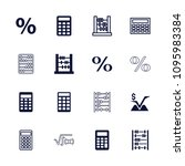 calculation icon. collection of ... | Shutterstock .eps vector #1095983384