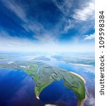aerial view the great river... | Shutterstock . vector #109598384