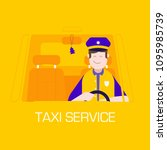 taxi service concept with... | Shutterstock .eps vector #1095985739